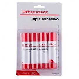 LAPIZ ADHESIVO OFFICE DEPOT 10 GRAMOS PAQUETE C/4