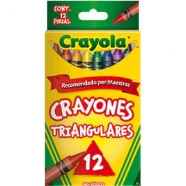 CRAYONES TRIANGULARES CRAYOLA COLORES SURTIDOS C12