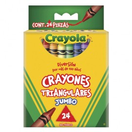 CRAYON TRIANGULAR 24 JUMBO