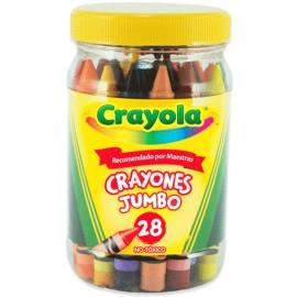 CRAYON JUMBO CRAYOLA BOTE C/28
