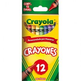 CRAYON ESTANDAR CRAYOLA COLORES SURTIDOS CAJA C/12