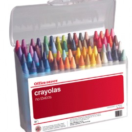 CRAYONES ESTANDAR OFFICE DEPOT ESTUCHE C/64
