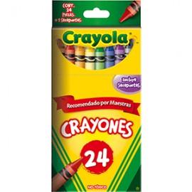 CRAYON ESTANDAR CRAYOLA COLORES SURTIDOS CAJA C/24