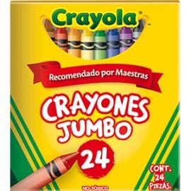 CRAYONES JUMBO CRAYOLA COLORES SURTIDOS C/24