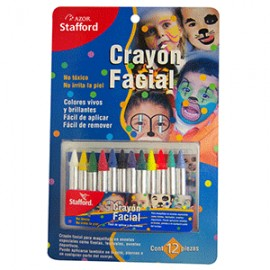 CRAYON FACIAL 12 COLORES STAFFORD