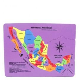 MAPA DE LA REPUBLICA MEXICANA TAMANO CARTA