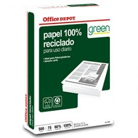 RESMA PAPEL RECICLADO 100 OFFICE DEPOT CARTA