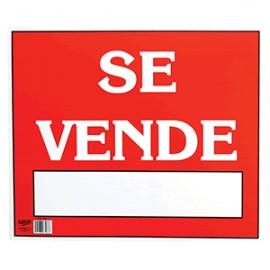 LETRERO CON LEYENDA SE VENDE 34 X 50 CM SABLON