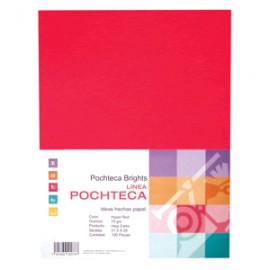 PAPEL BRIGHT RED NEON CARTA CON 100 HOJAS POCHTECA