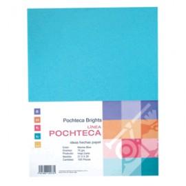 PAPEL BRIGHT BLUE NEON CARTA CON 100 HOJAS POCHTECA