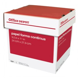PAPEL STOCK 1 TANTO CAJA C/3000 OFFICE DEPOT