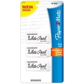 GOMA WHITE PEARL DE PAPERMATE CON 3 PIEZAS